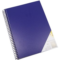 Quill Visual Art Diary A4 110gsm Dark Blue Cover 120 pg