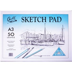 Quill Sketch Pad A3 110gsm 50 Sheets