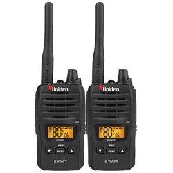 Uniden Two Way Radio UHF 80 Channels 2W Twin Pack