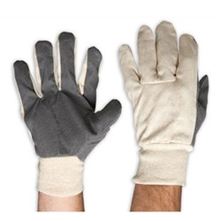 Zions Glove Cotton Drill with Vinyl Palm