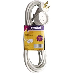 Prolink Power Extension Lead 5m  10A White