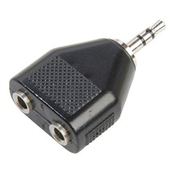 Plug 3.5mm to 2 x 3.5mm Stereo