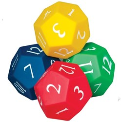 HART 12 Sided Inflatable Dice Set 10cm diameter