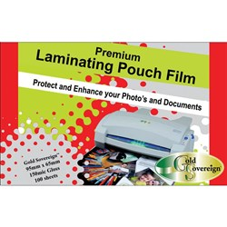 Laminating Pouch Business Card 150 mic 65mm x 95mm