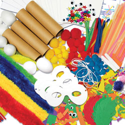 Art Craft Materials Paint Brushes Writing Drawing Crayons Markers