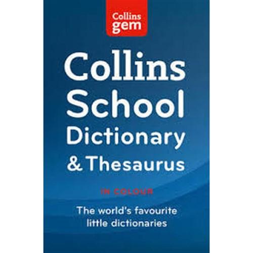 Collins Gem School Dictionary & Thesaurus 2e