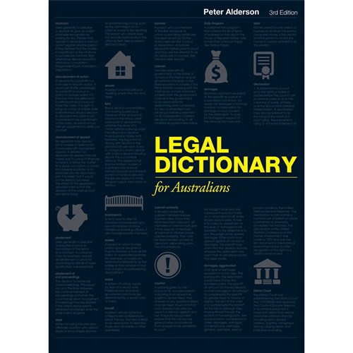 Legal Dictionary for Australians 3e