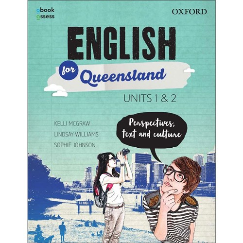 English for QLD Units 1 & 2 Student Book + obook assess