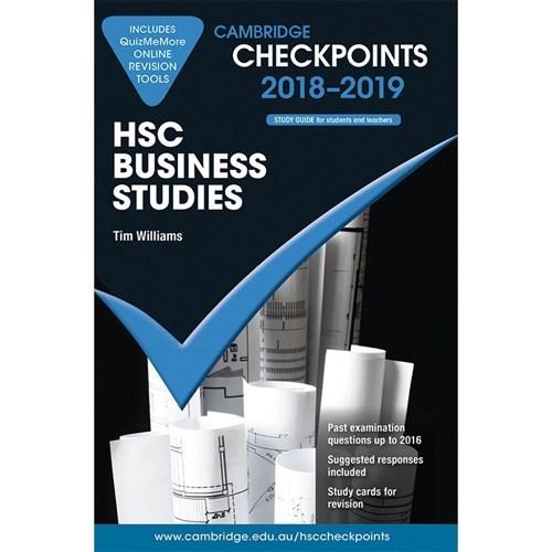 Cambridge Checkpoints HSC 2018 -19 Business Studies & Quiz Me