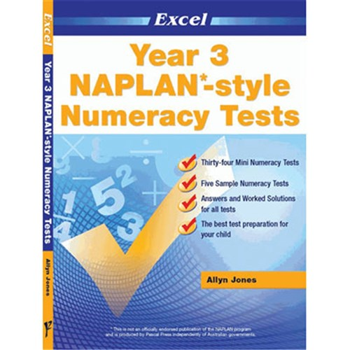 Excel Year 3 NAPLAN*-style Numeracy Tests