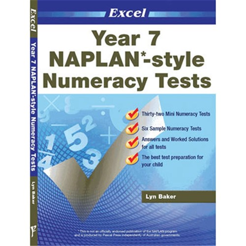Excel Year 7 NAPLAN*-style Numeracy Tests