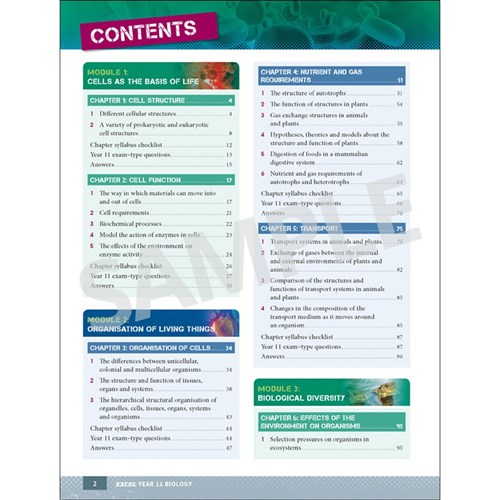 Excel Study Guide Year 11 Biology