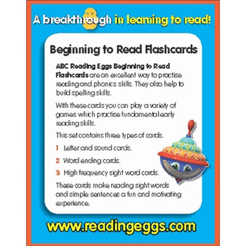 ABC Reading Eggs Level 2 Beginning to Read Flash Cards