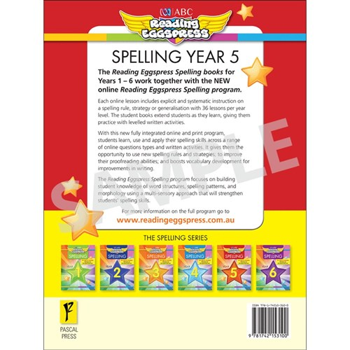 Reading Eggspress Spelling Workbook Year 5