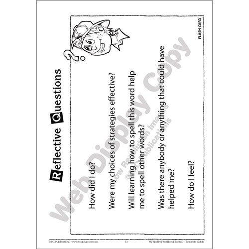 My Spelling Workbook Teachers Guide Book D