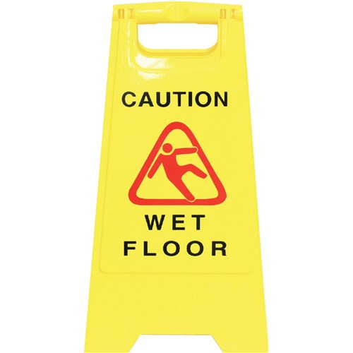 Cleanlink Safety Sign Wet Floor Yellow
