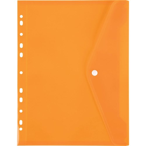 Marbig Binder Pocket With Button Closure