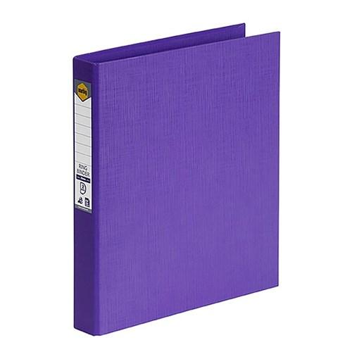 Marbig PE Linen Ring Binder A4 25mm 2D Purple