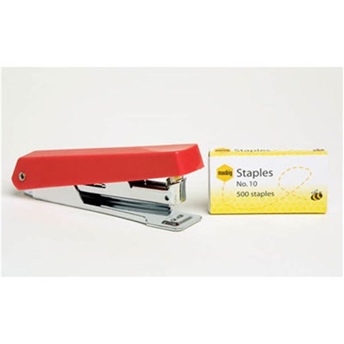 Marbig Stapler No.10 Compact Asst Colours with 500 Staples