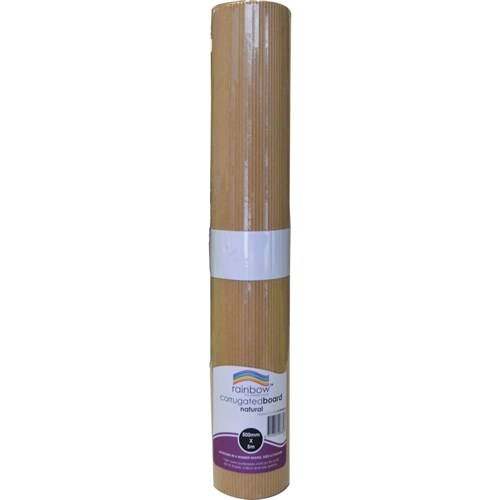 Rainbow Corrugated Board Roll 500mm x 5m Natural