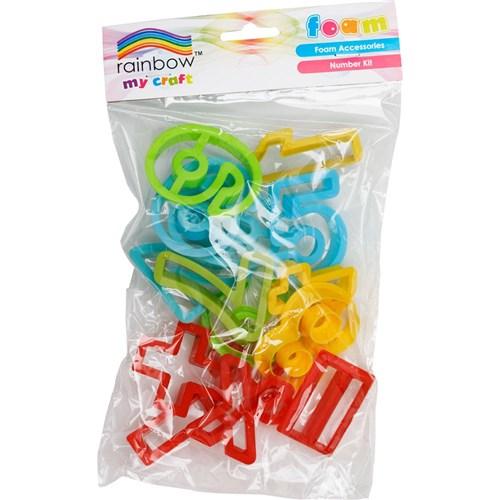 Rainbow Sculpting Foam Moulds Numbers & Maths Symbols Kit