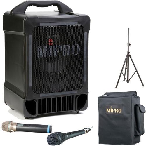Mipro MA707 Portable PA Freq Agile Wireless Mic & CD/MP3