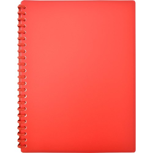 Display Book A4 Refillable Matte Red
