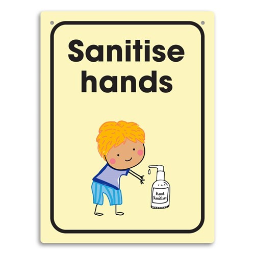 Hygiene Wall Sign PP - Sanitise hands
