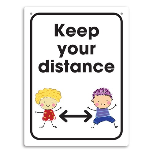 Hygiene Wall Sign PP - Keep your distance