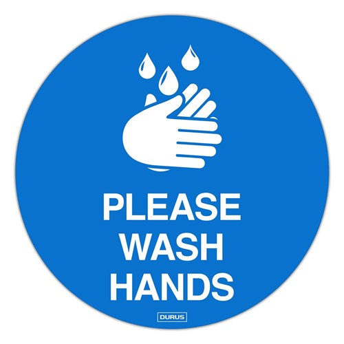 Hygiene Floor Sign Adhesive - Please Wash Hands