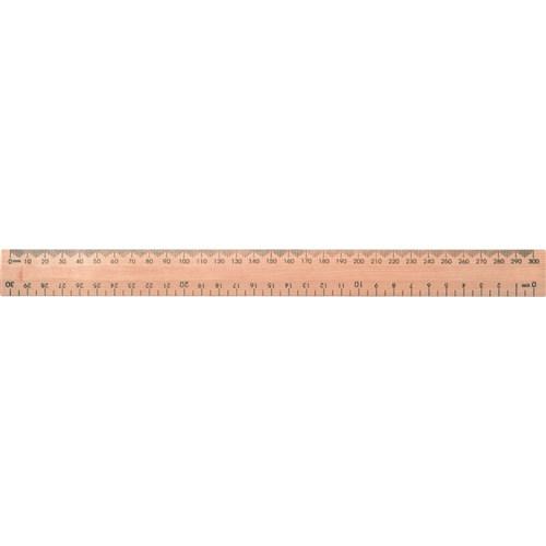 Wooden Ruler 30cm Polished