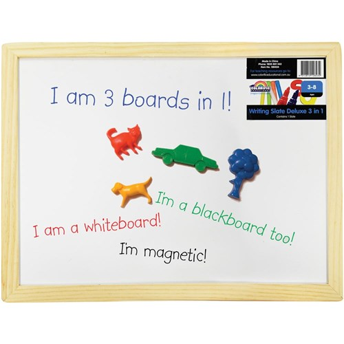 Whiteboard & Blackboard Magnetic Slate 400 x 300mm
