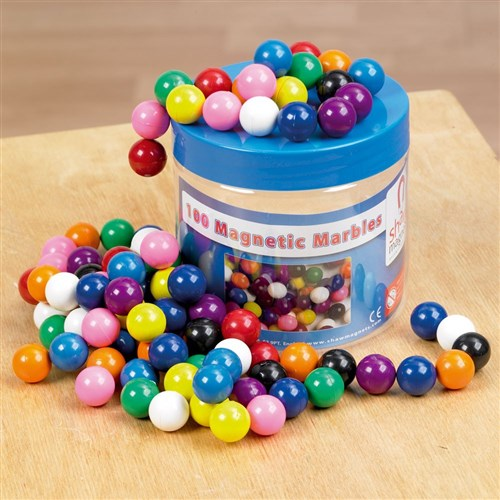 Magnetic Marbles Asst Colours in Storage Tub