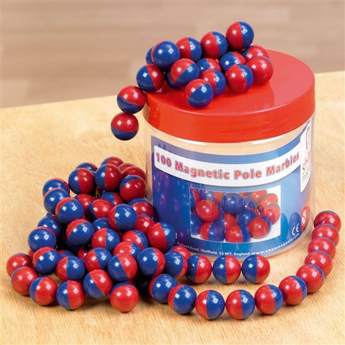 Magnetic Pole Marbles in Storage Tub