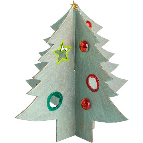 Papier Mache 3D Interlocking Christmas Trees
