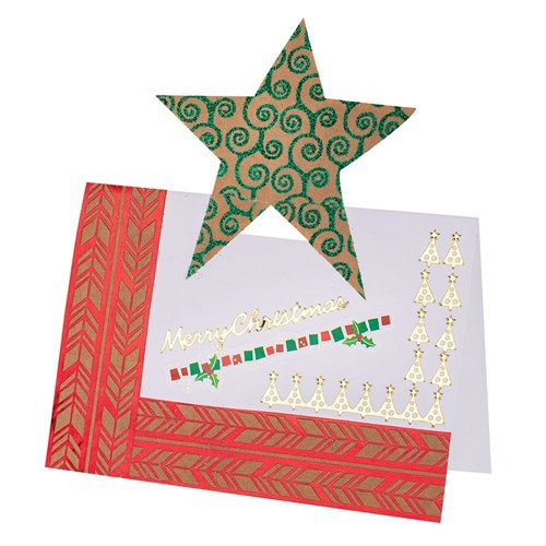 Cardboard Pop Up Cards Stars & Trees