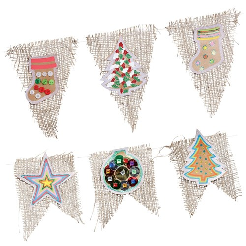 Hessian Christmas Bunting