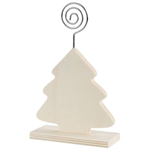 Wooden Stand with Photo Holder - Tree