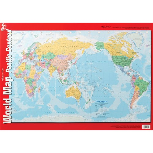Chart - World Map Pacific Centred Double-Sided