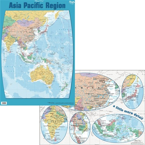 Chart - Asia Pacific Region Map Double-Sided