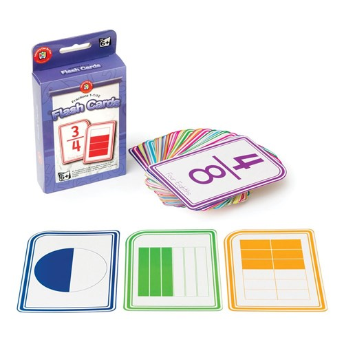 Numeracy Flash Cards - Fractions