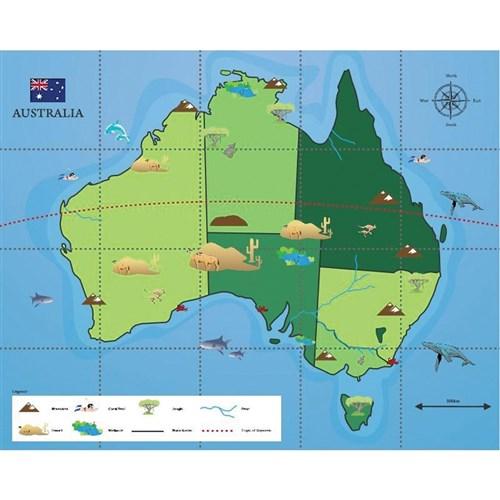 bee bot mat australian map