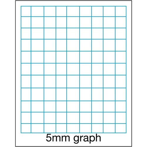 Zewexm080 Victory Exercise Graph Book A4 5mm Grid 48 Pg