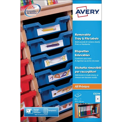 Avery Tray Label
