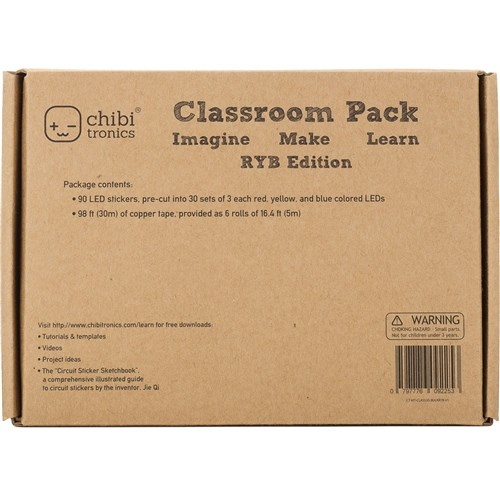 Chibitronics Classroom Pack Red Yellow Blue
