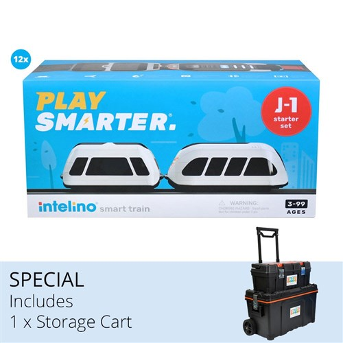 Intelino Smart Trains + Storage Cart Bundle