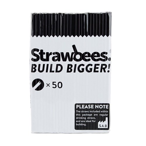 Strawbees Straws - Black