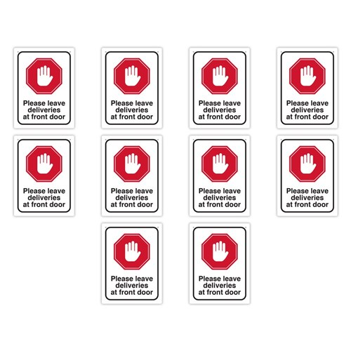 Health & Safety Sign Pack - Leave Deliveries at Front Door