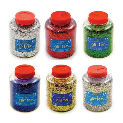 Glitter Dispenser 400g Asst Set