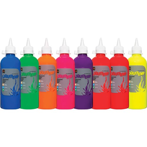 EC Liquitemp Paint 500ml Fluorescent Asst